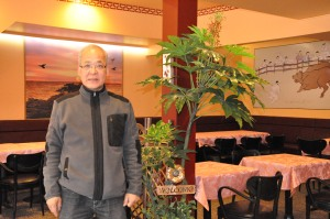 Manager Bobby Cho inside his new restaurant.