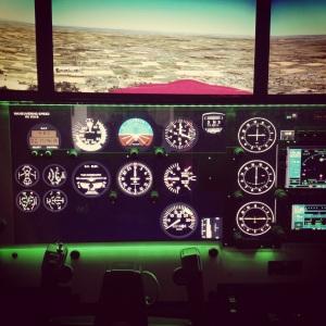 REDBIRD FMX-1000 full motion flight training device.